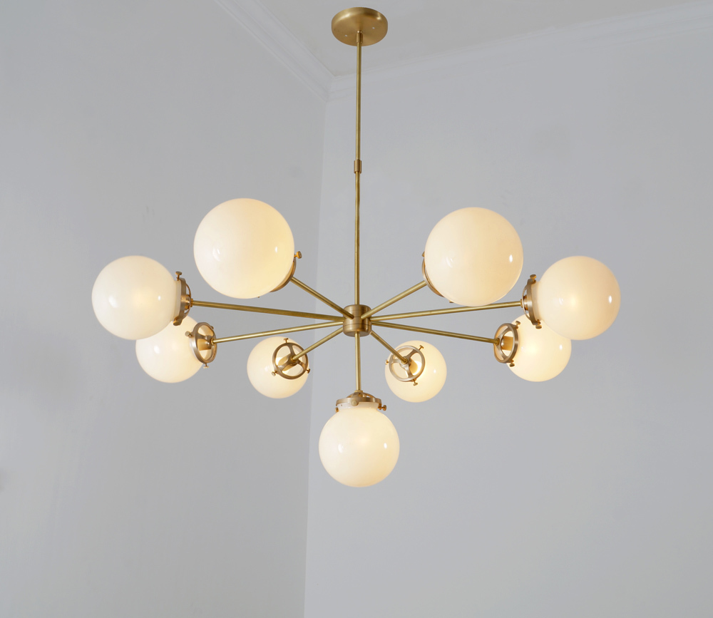 Glass Lamp Ceiling X2 Modernist Chandelier Glass Balls Pendant Lamp Ceiling Light Fixtures 38