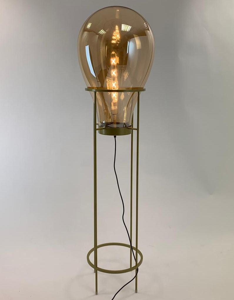 Glass Edison Lamp Large Gold Glass Edison Lamp On Gold Floor Stand Large Led Filament Bulb Included