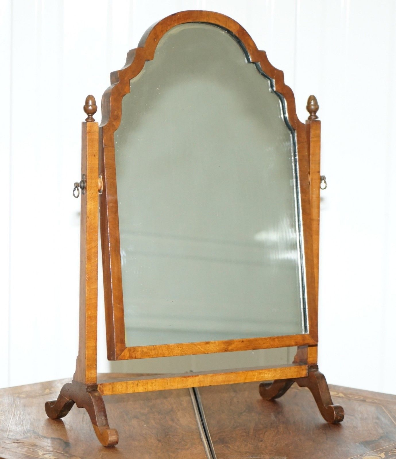 Decorative Mirror Table Stunning Georgian Cheval Table Top Toilet Dressing Table Walnut Plate Mirror