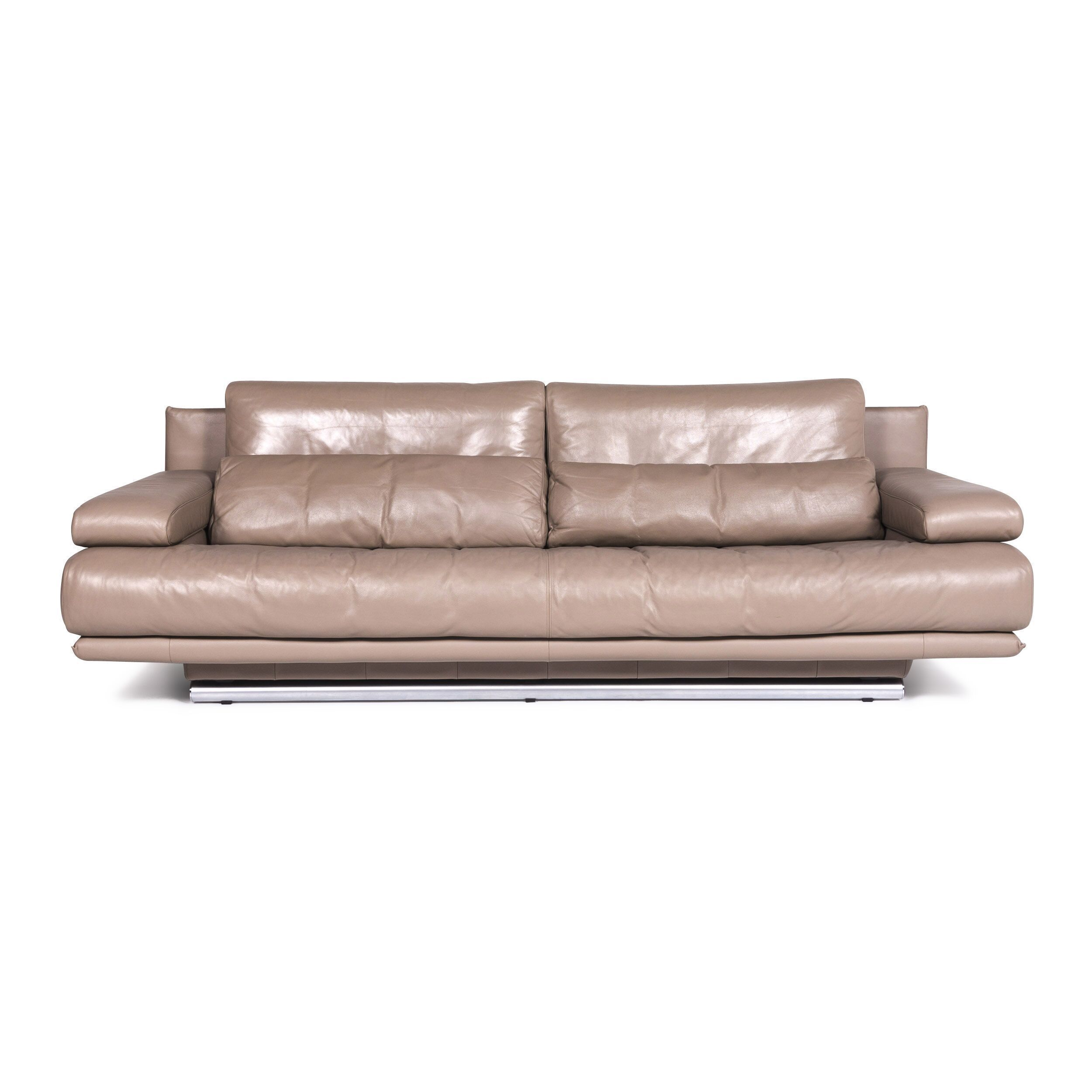 Rolf Benz Couch Rolf Benz 6500 Designer Leather Sofa Beige Three Seater Couch 9015