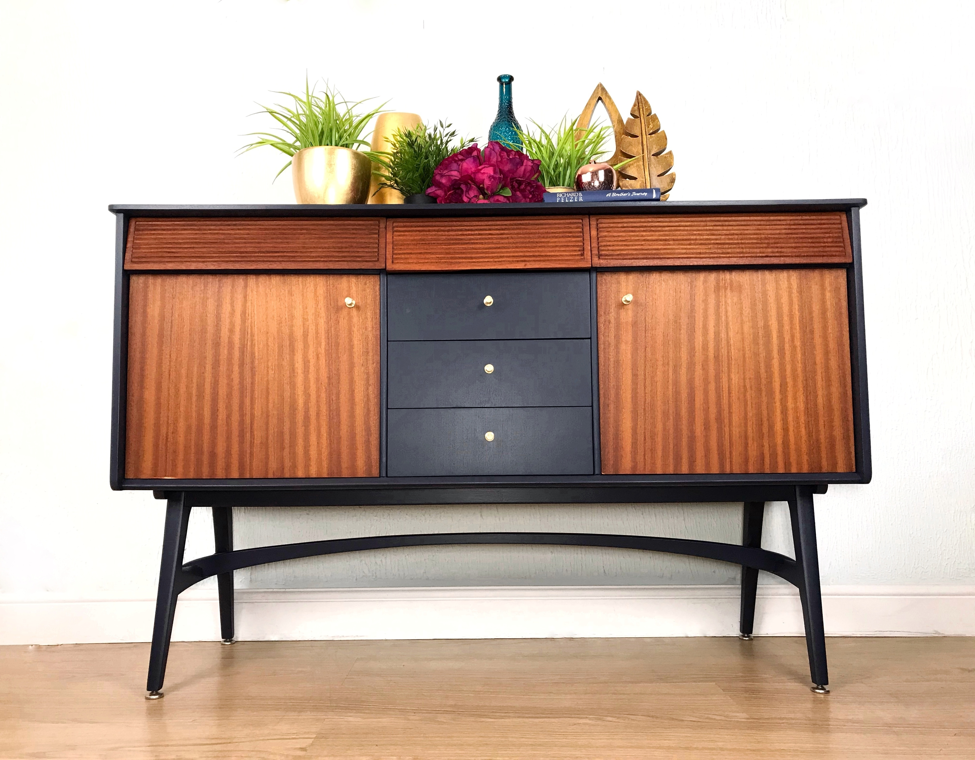 Vintage Nathan Sideboard Mid Century Vintage Retro Refurbished Nathan Sideboard On Stylish Legs Nathan Vinterior Co
