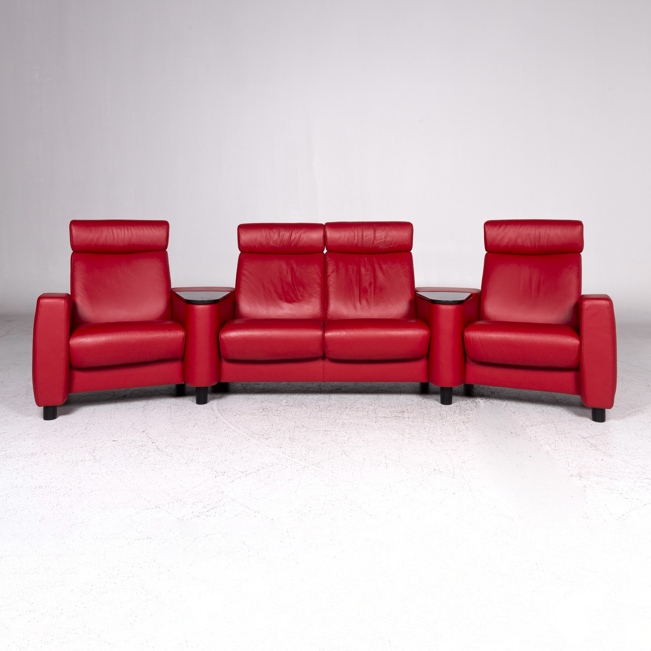 Relax Sofa Braun Stressless Arion Designer Leather Sofa Red Four Seater Relax Couch 9572
