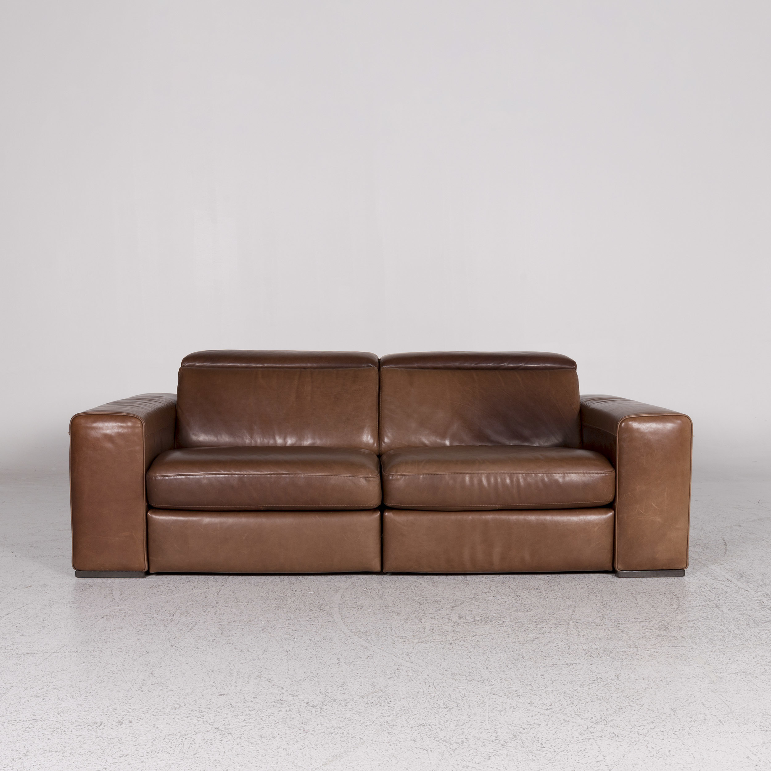 Relax Sofa Braun Natuzzi Designer Leather Sofa Brown Two Seater Relax Function Couch 9921