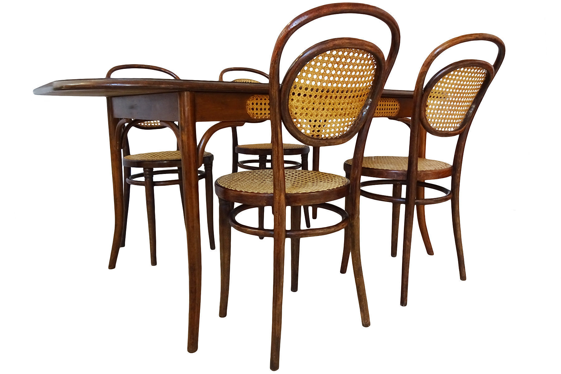 Thonet Michael Original Antique Michael Thonet Designed No 11 Chairs And Dining Table Set