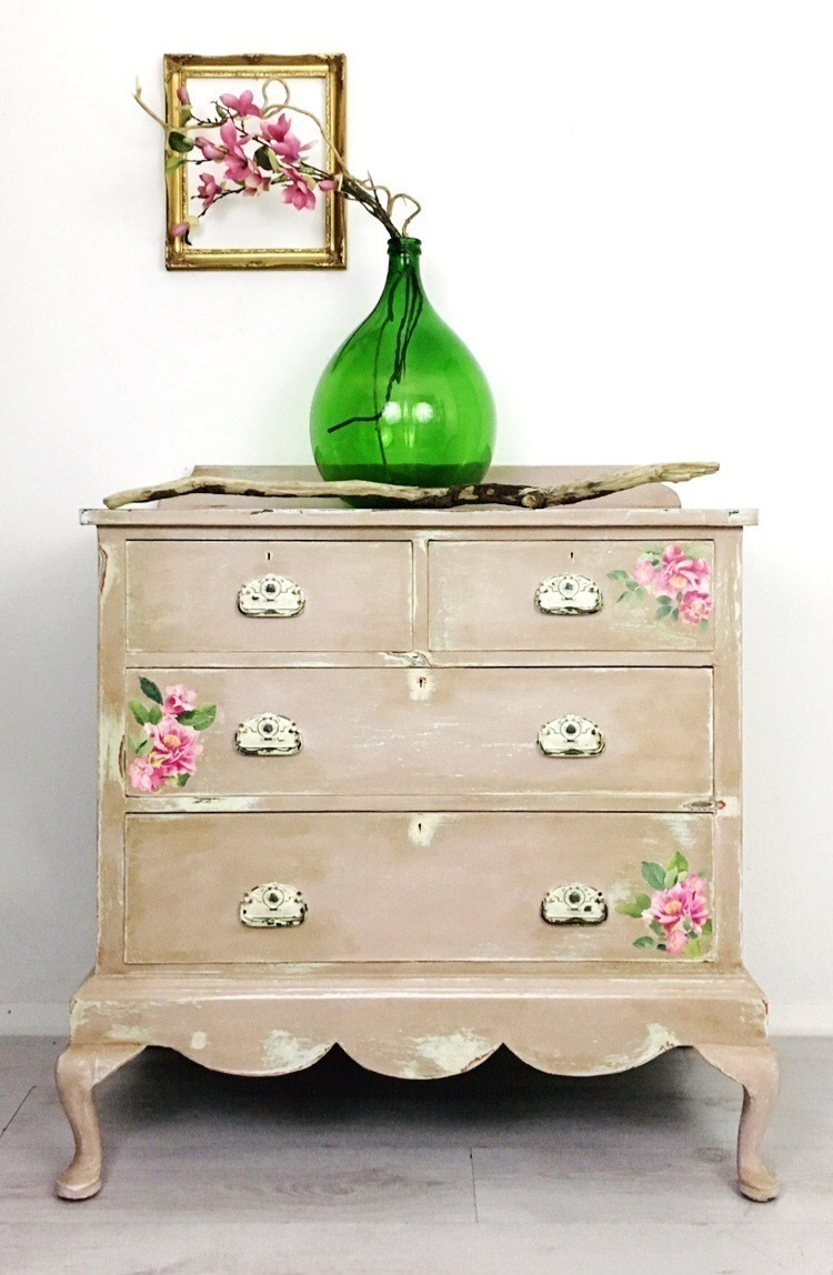 Shabby Chic Vintage Nursery Shabby Chic Rustic Vintage Chest Of Drawers Vintage Painted Dressing Table Nursery Furniture