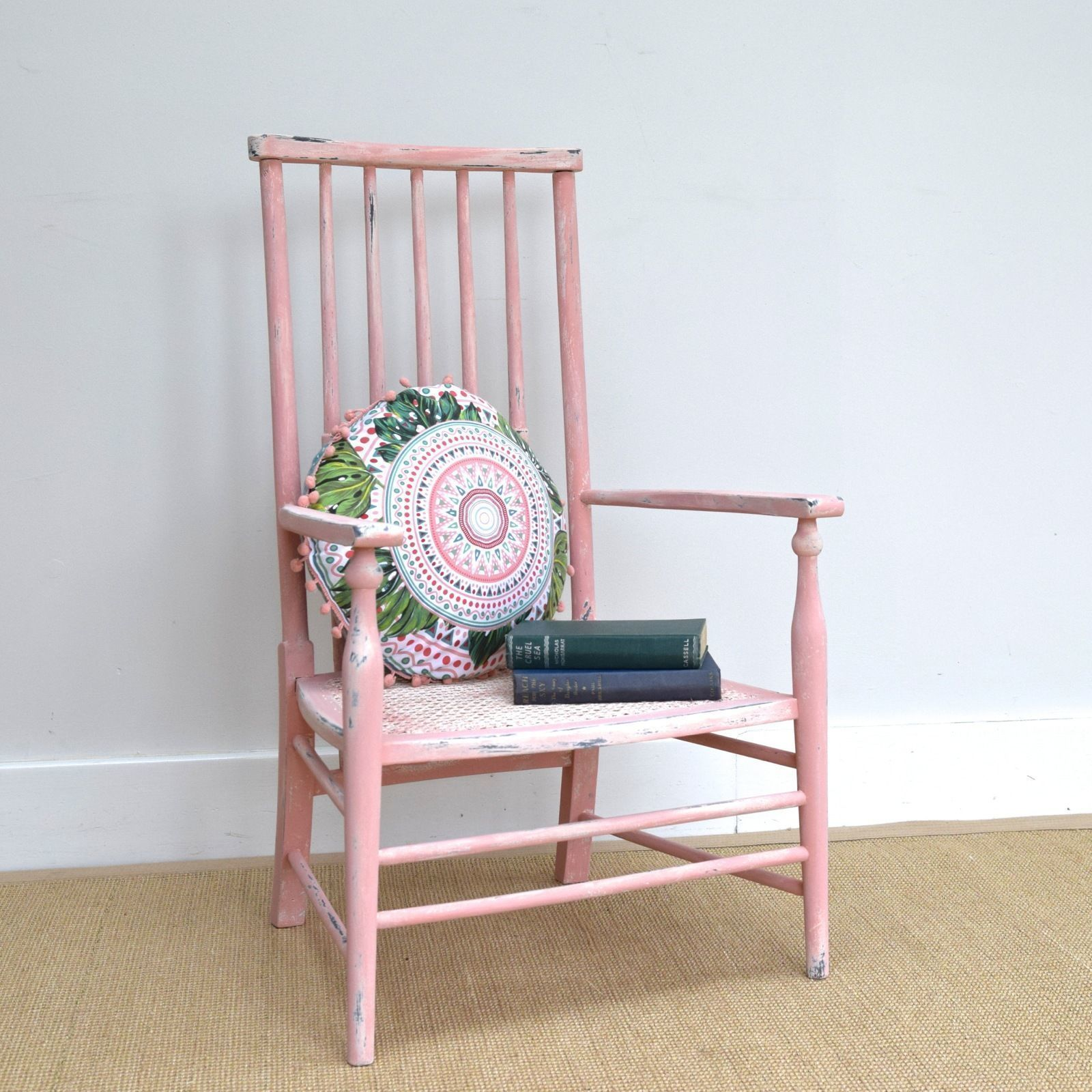 Shabby Chic Vintage Nursery Shabby Chic Antique Nursing Chair Childs Scandi Pink Bedroom Nursery Chair Seat