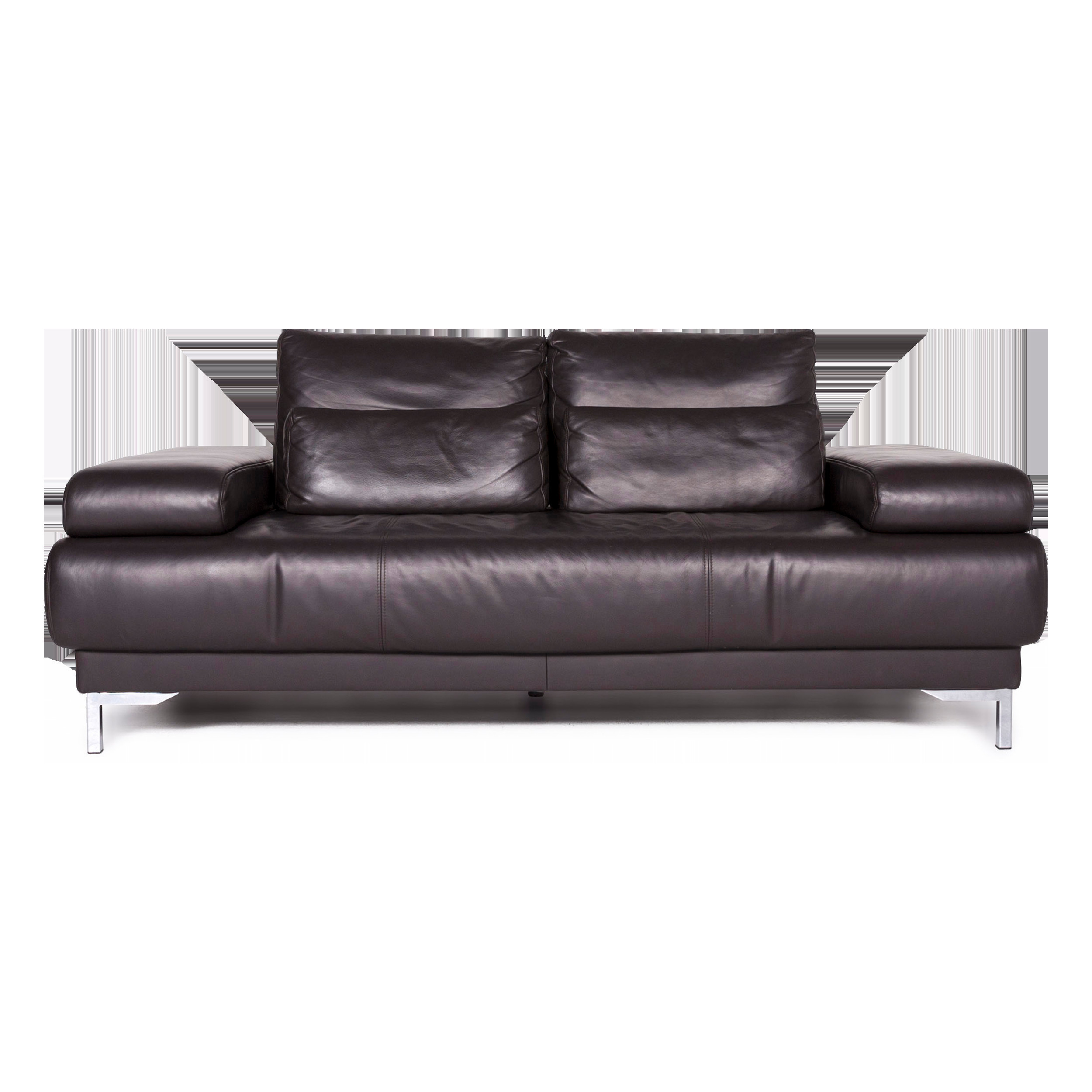 Ewald Schillig Designer Sofa Ewald Schillig Harry Designer Leather Sofa Brown Two Seater Function Couch 8881