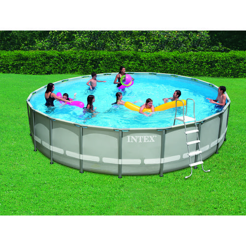 Pool Frame Rund Intex 20 Ft X 48 In Round Ultra Frame Pool Set With 1,500