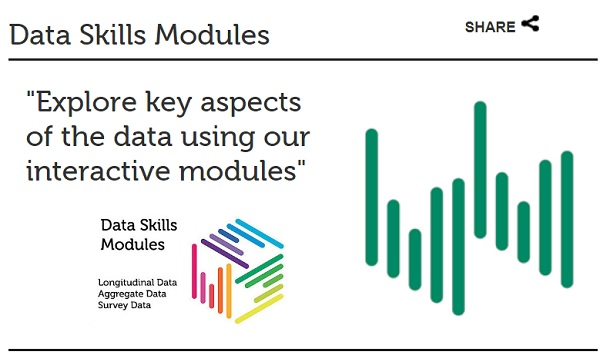 Free interactive Data Skills Training Modules (from UK Data Service