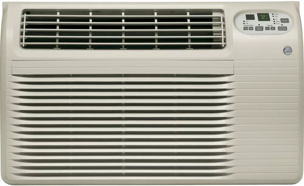 GE AJCQ12ACG 12,000 BTU Wall Air Conditioner with 270 CFM, 106 EER