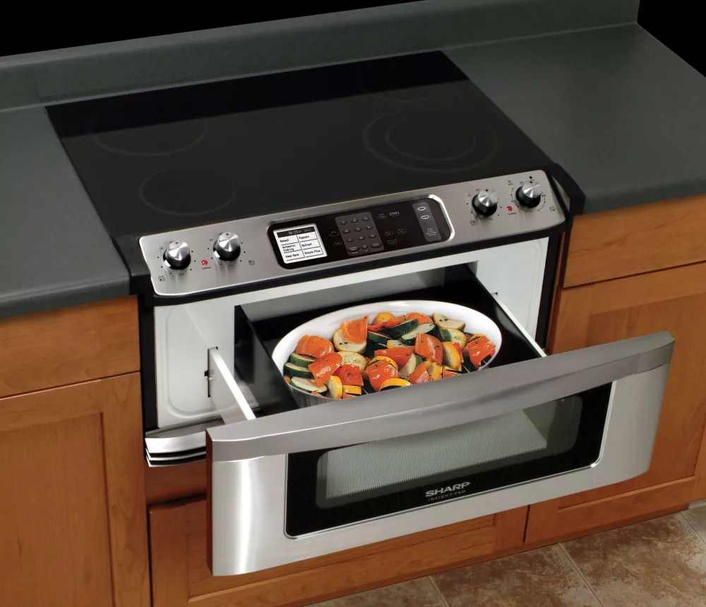 Herd Backofen Kombi Sharp Kb5121ks 30 Inch Electric Cooktop And Microwave