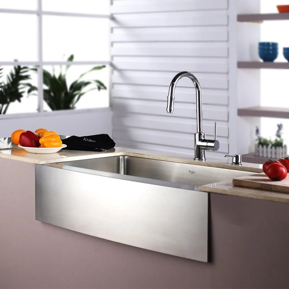 KHFCH farmhouse faucet kitchen Kraus Kitchen Combo Series KHFCH Lifestyle View