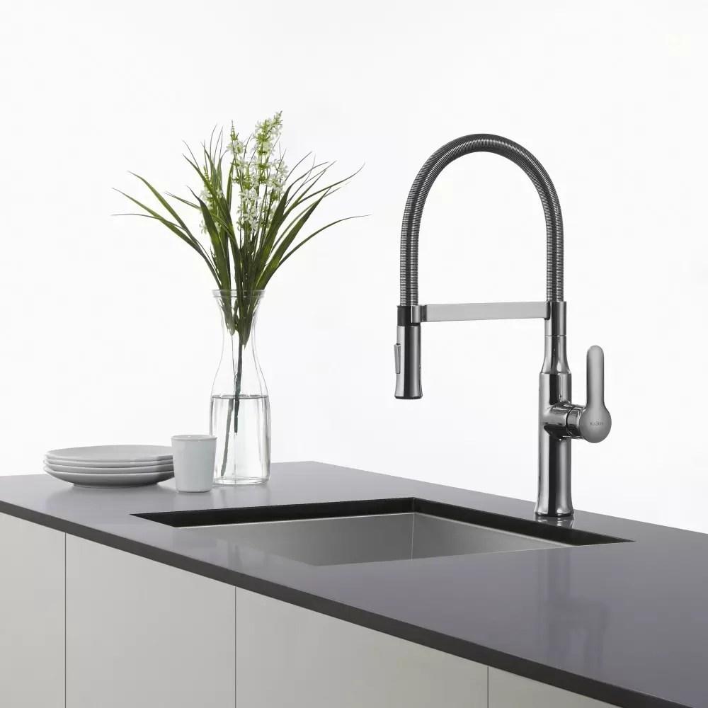 KPFSS commercial kitchen faucet Kraus Nola Series KPFSS Single Lever Kitchen Faucet with 8 Spout Reach