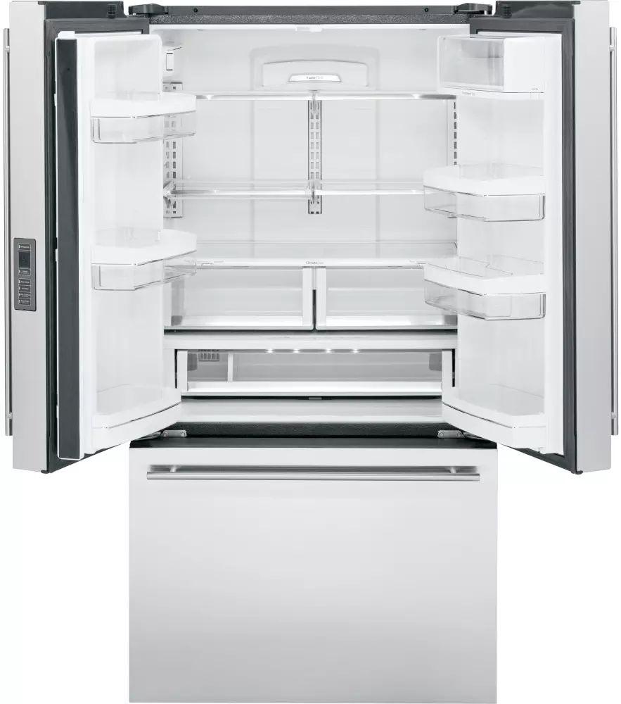 monogram zwe23eshss 36 inch counter depth french door refrigerator with twinchill u2122 internal