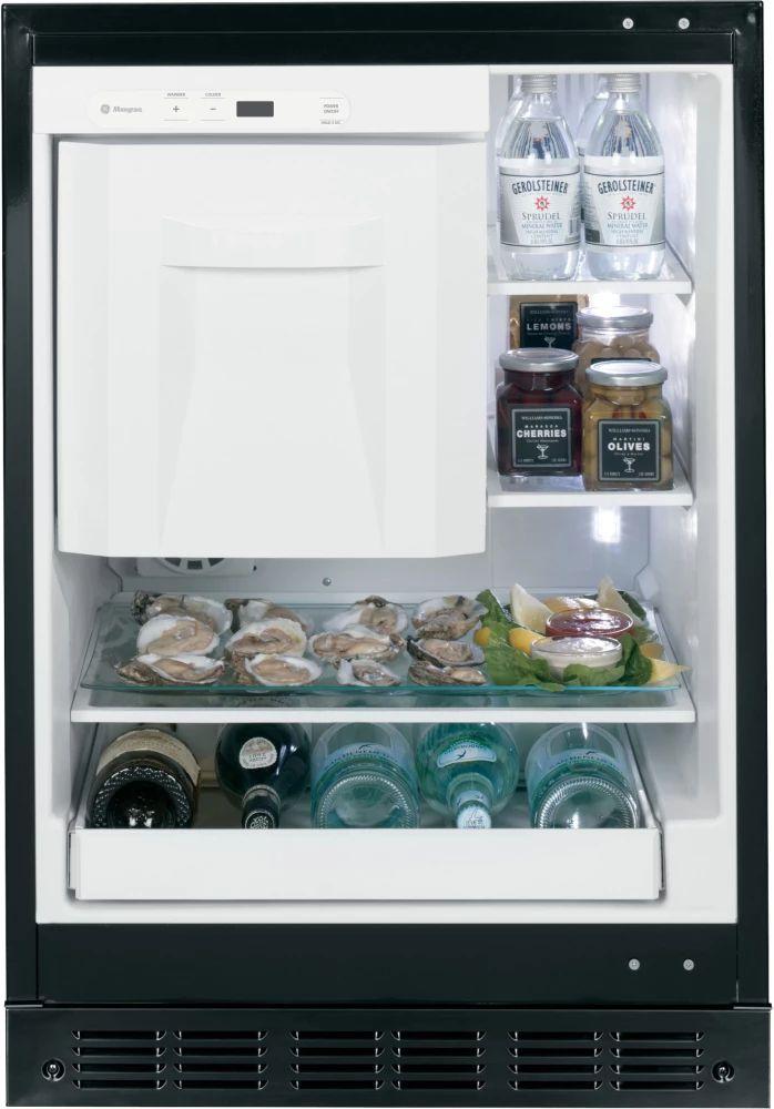 monogram zibi240hii 24 inch undercounter refrigerator with 4 25 cu ft capacity spillproof