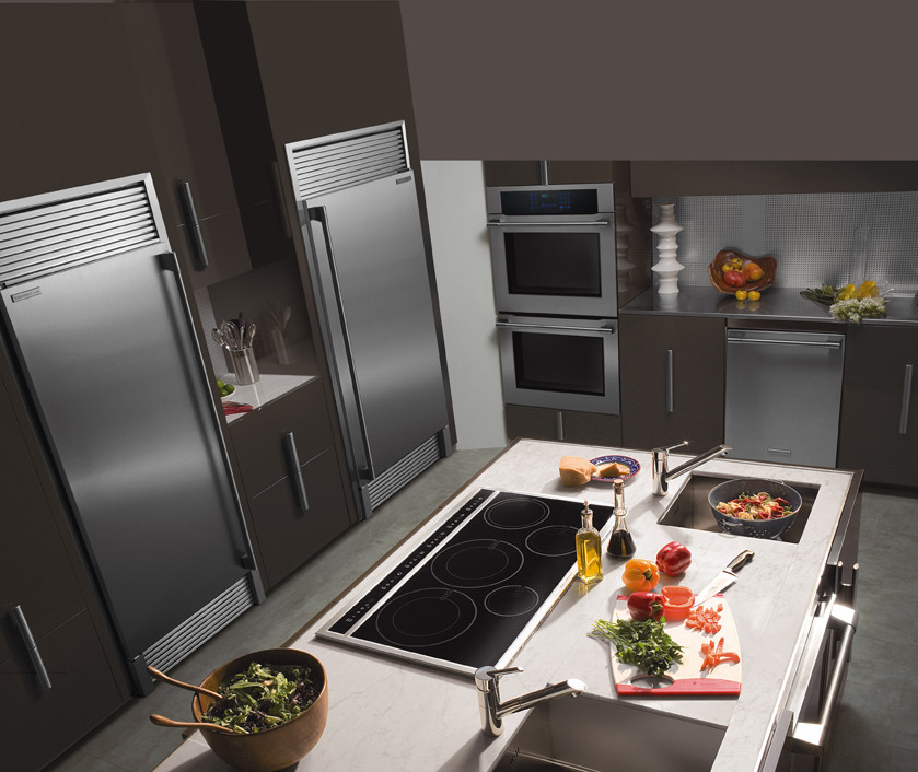 Kitchen Cabinet Drawers Electrolux E32ar75fps 16.5 Cu. Ft. All-refrigerator With 3