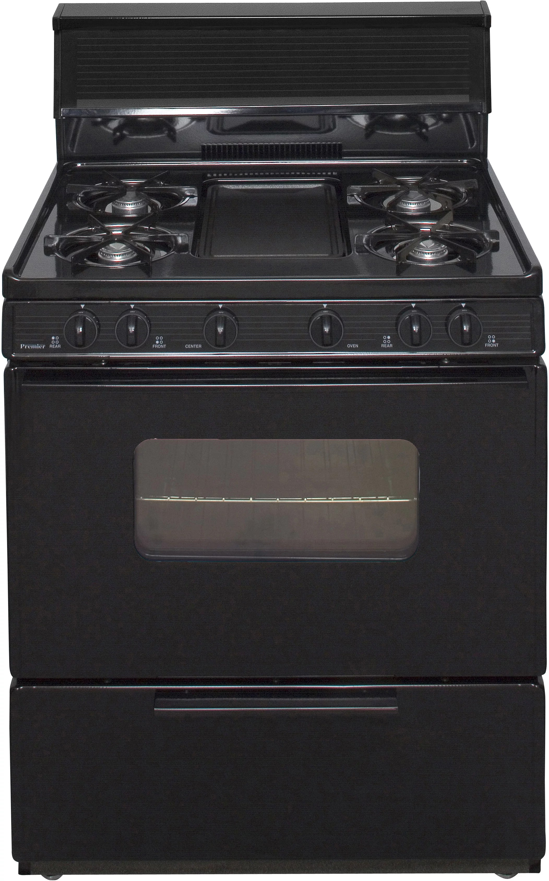 Gas Countertop Stoves Premier Bfk5s9bp 30 Inch Freestanding Gas Range With 5