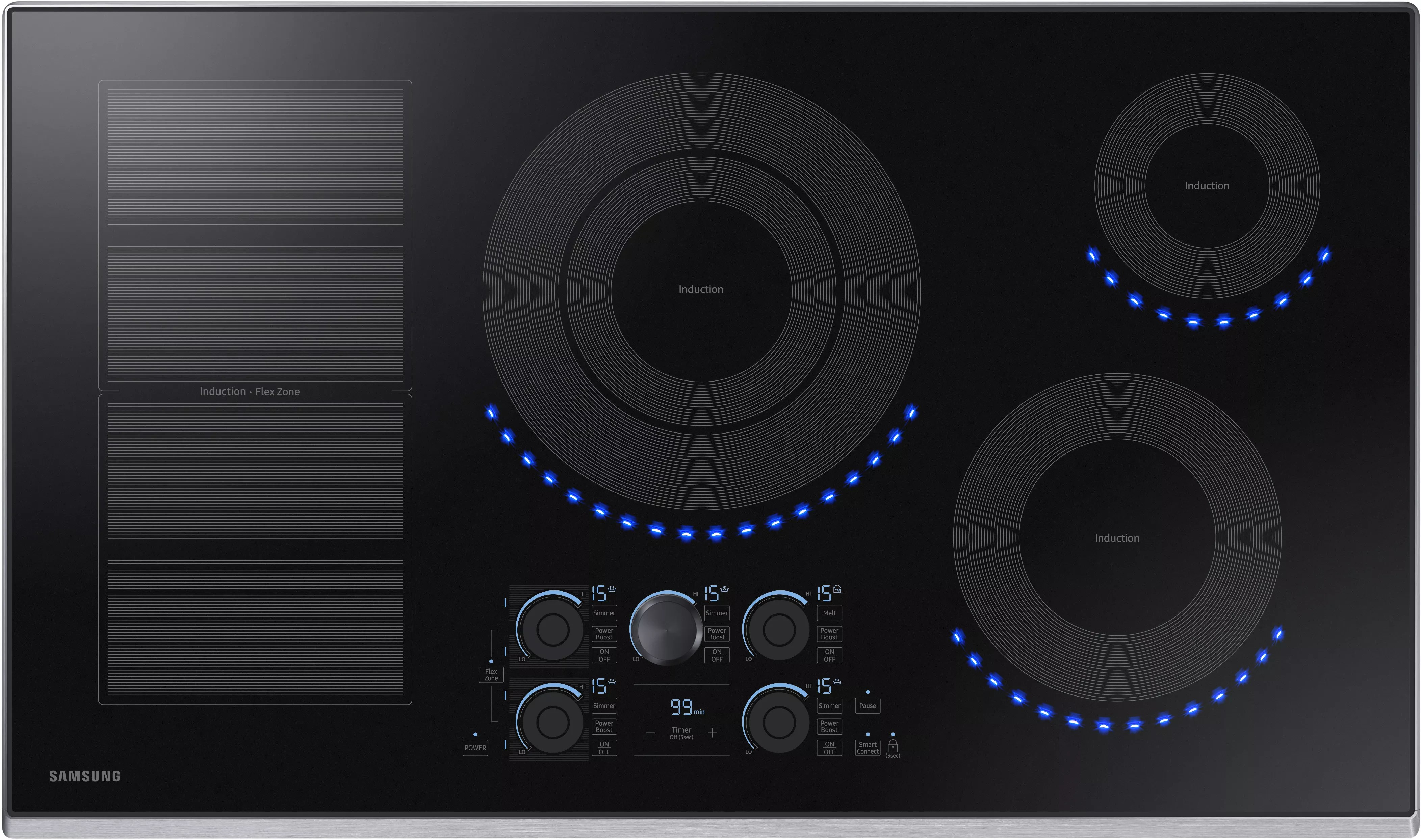 Induction Cooktop Samsung Nz36k7880us 36 Inch Induction Cooktop With Flex