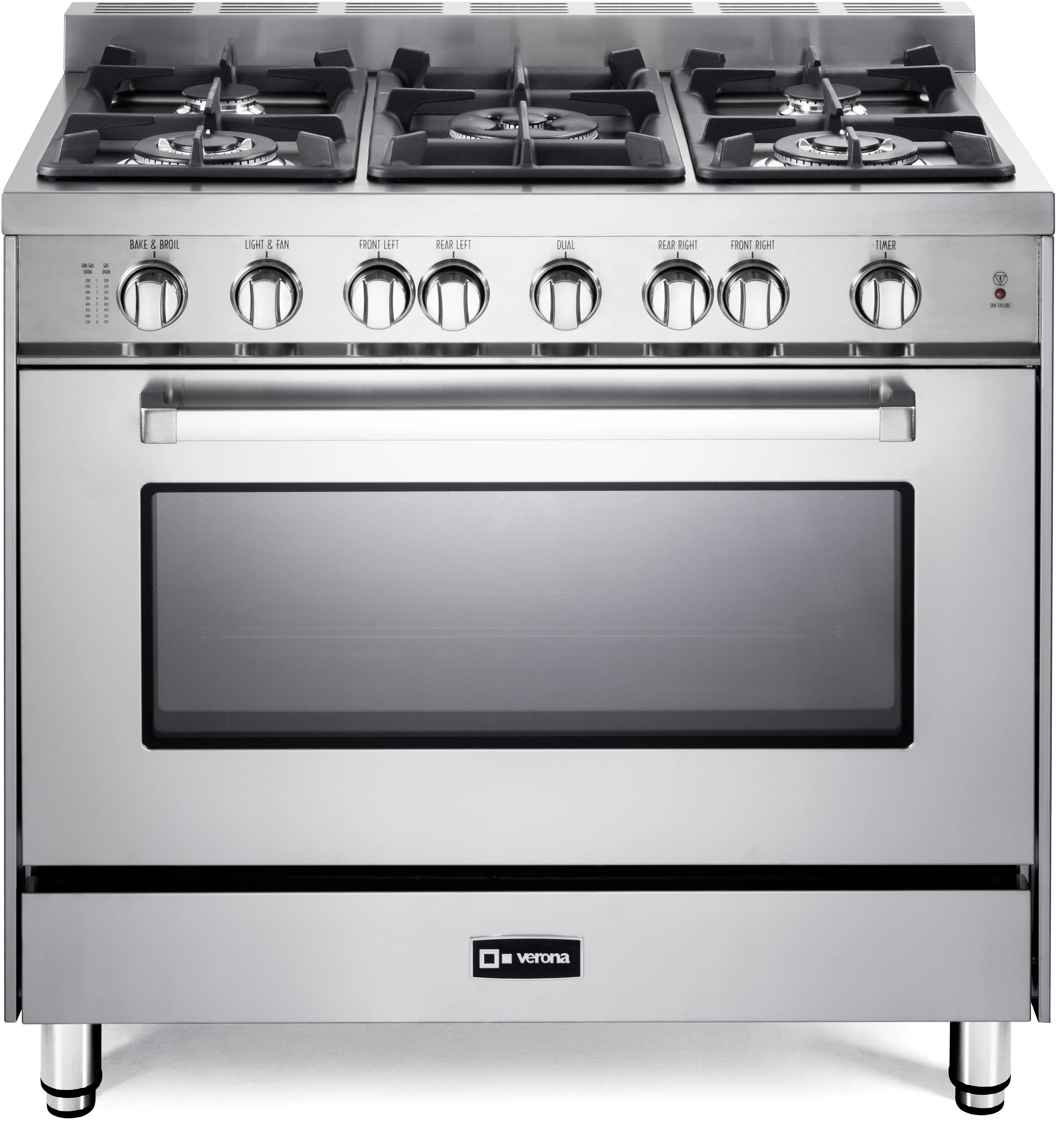 Cooktop Gas Stoves Verona Vefsgg365n 36 Inch Pro Style Gas Range With 5