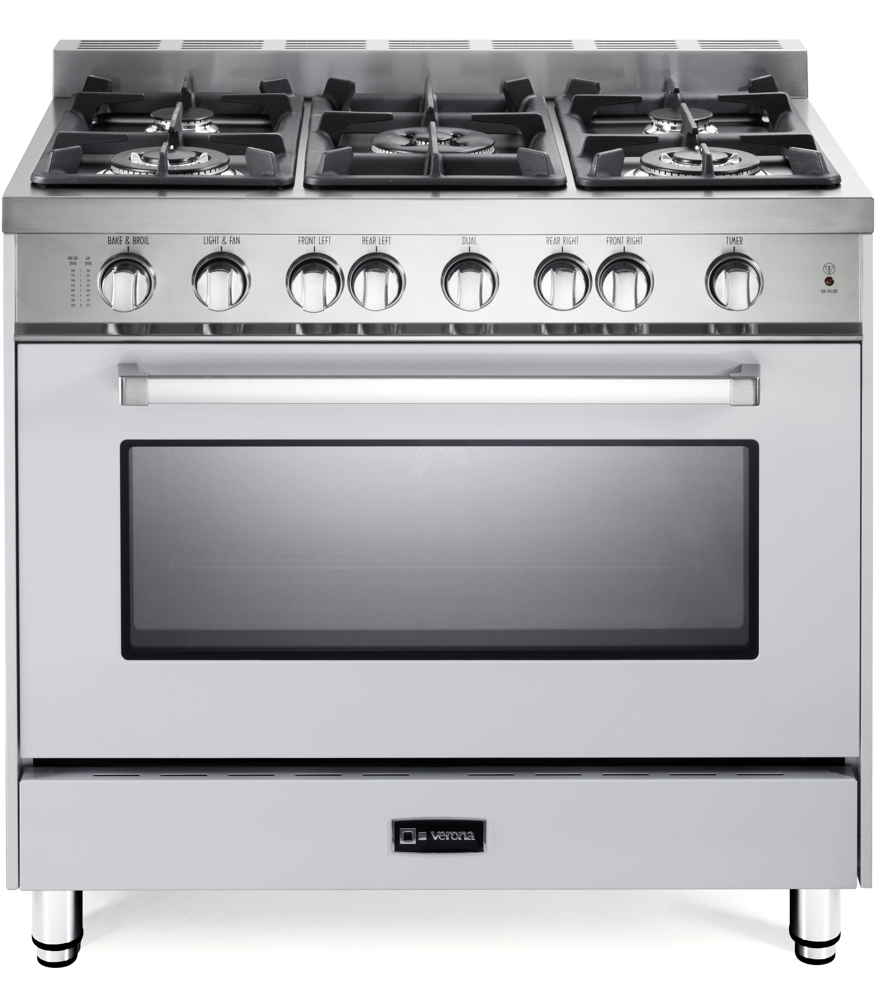 Gas Cooktop Installation Cost Verona Vefsgg365nw 36 Inch Pro Style Gas Range With 5