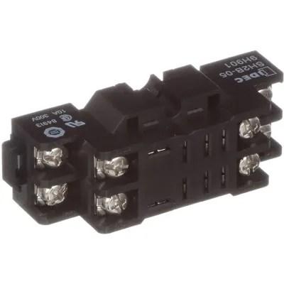 IDEC Corporation - SH2B-05 - Relay Socket; 8 Pin; 2 Pole; 10 A; 300