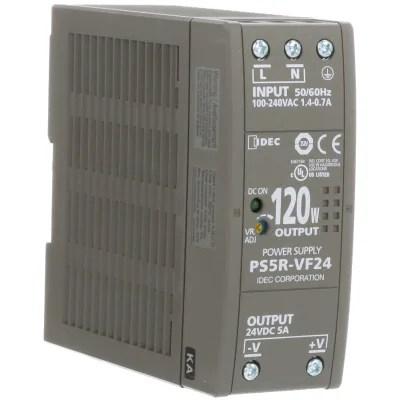 IDEC Corporation - PS5R-VF24 - Power Supply; AC-DC; 120W 24VDC DIN