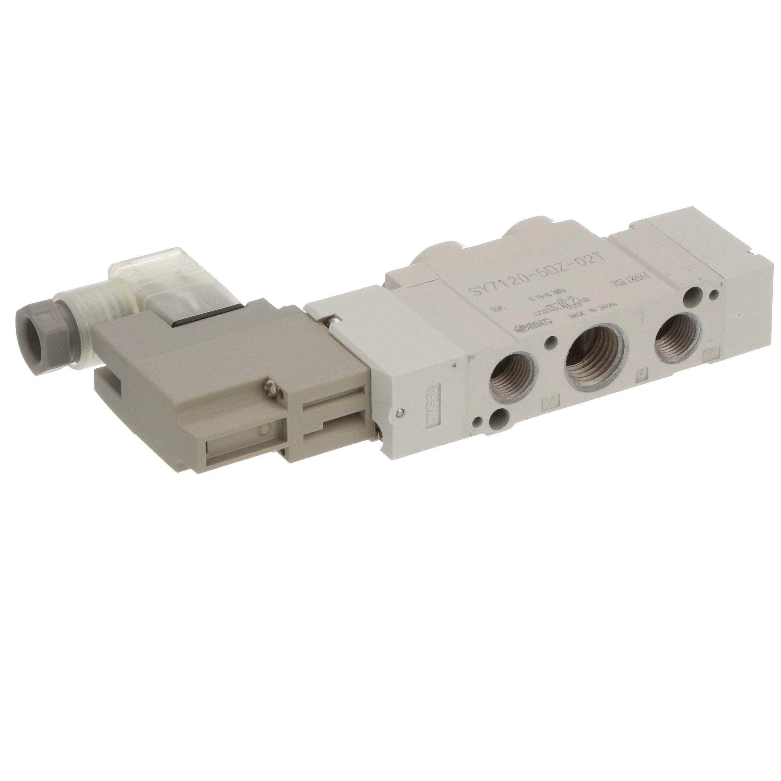 SMC Corporation - SY7120-5DZ-02T - Solenoid Valve; 5 port; 2
