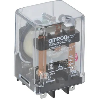 Omron Automation - MJN2CKAC120 - RELAY; E-MECH; LATCHING; DPDT; CUR