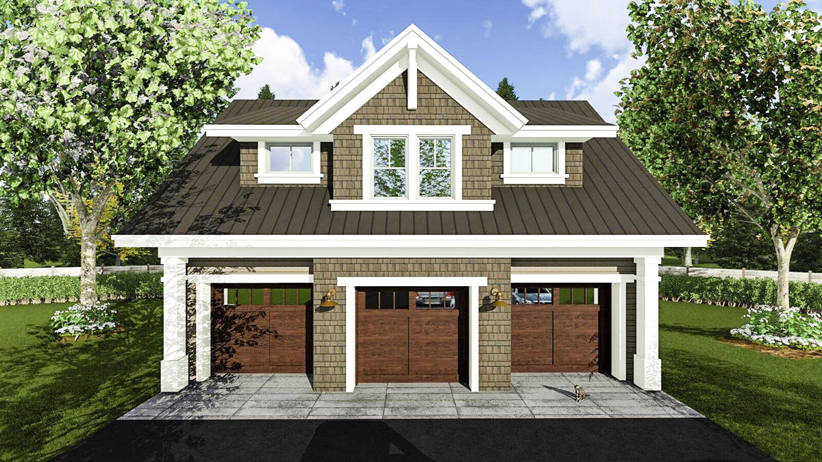 Garage Apartment Plan 14631rk 3 Car Garage Apartment With Class