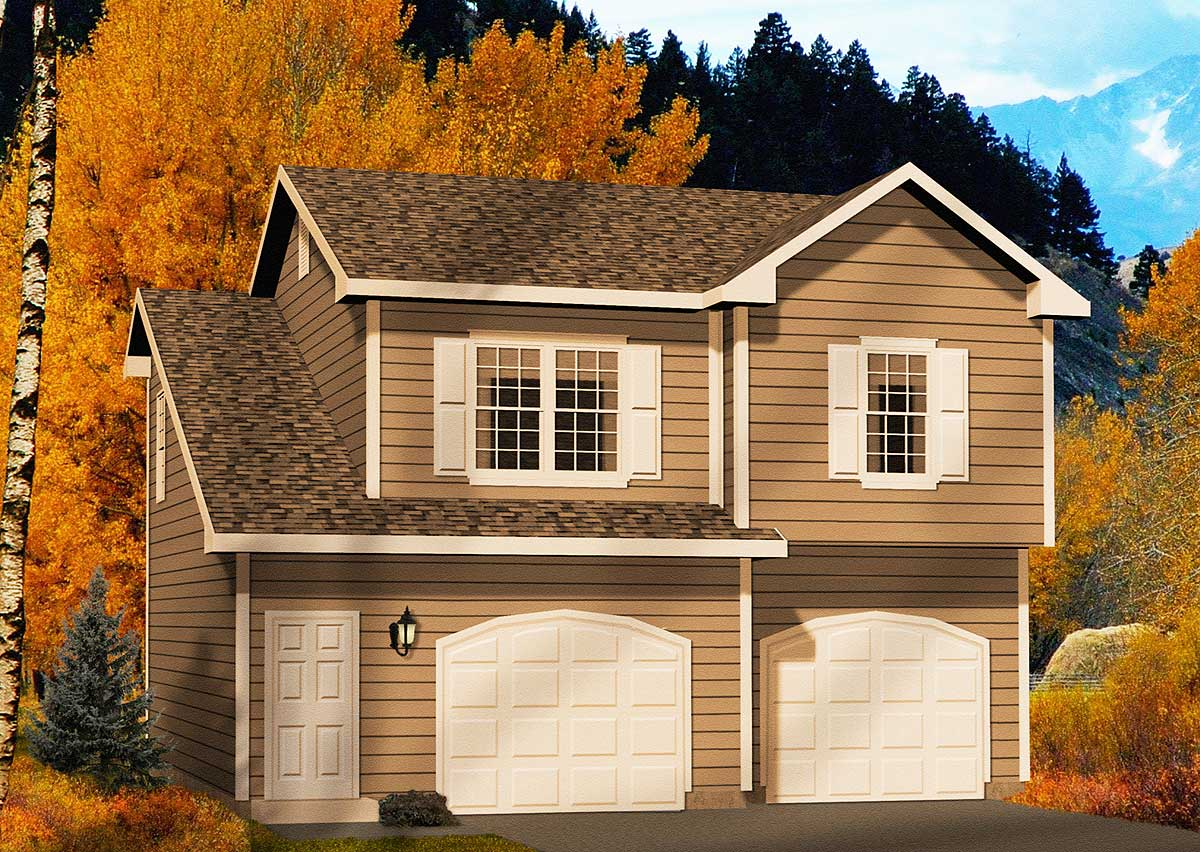 Garage Apartment Plan 2245sl Two Car Garage Apartment