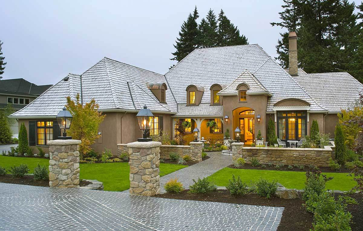 Modern French Farmhouse Exterior Plan 69460am Energy Efficient French Country Design