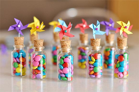 Botecitos de caramelos para fiestas infantiles - Manualidades para
