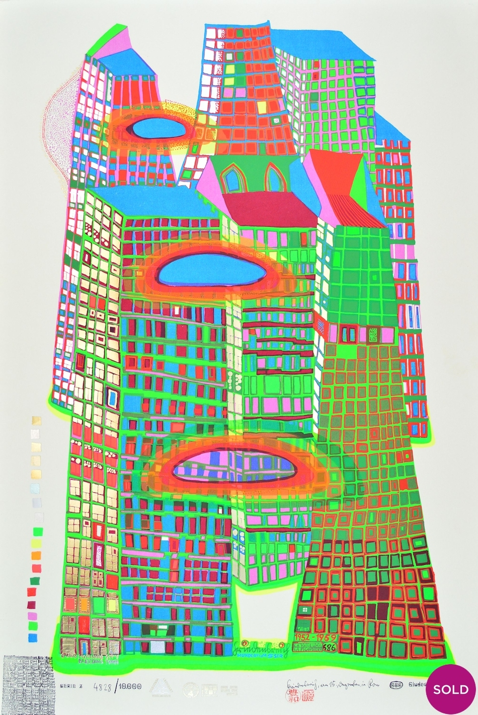 Siebdruck Kaufen Hundertwasser Good Morning City Grafik Kaufen I Artedio