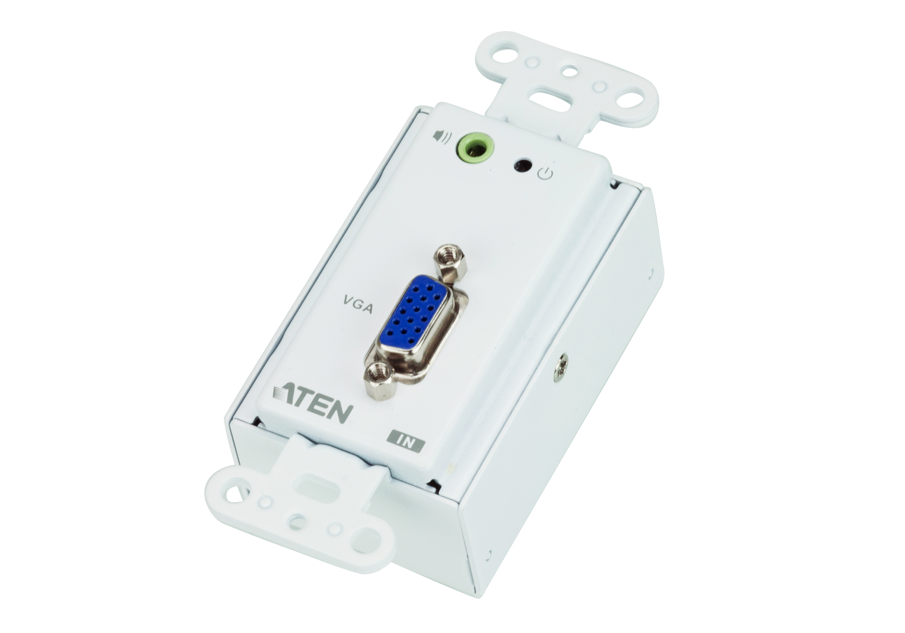 VGA/Audio Cat 5 Transmitter Wall Plate (US) (1280 x 1024@150m