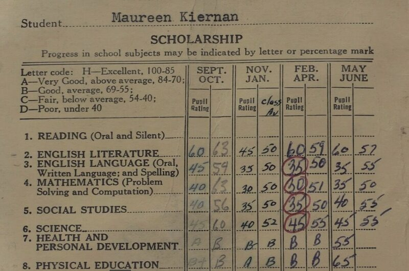 Found A Not-So-Great Report Card From 1957, Hidden in the Floor