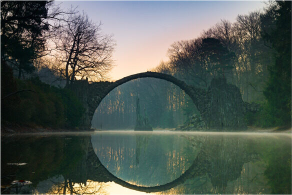 Rakotzbrücke Devil\u0027s Bridge \u2013 Gablenz, Germany - Atlas Obscura