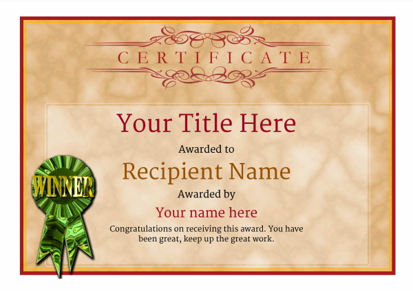 Free Clay Shooting Certificate templates Add Printable Badges  Medals - Award Paper Template