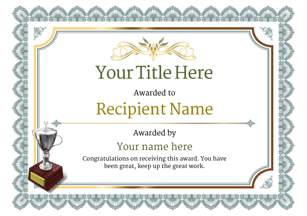 Free Ice Hockey Certificate templates - Add Printable Badges  Medals