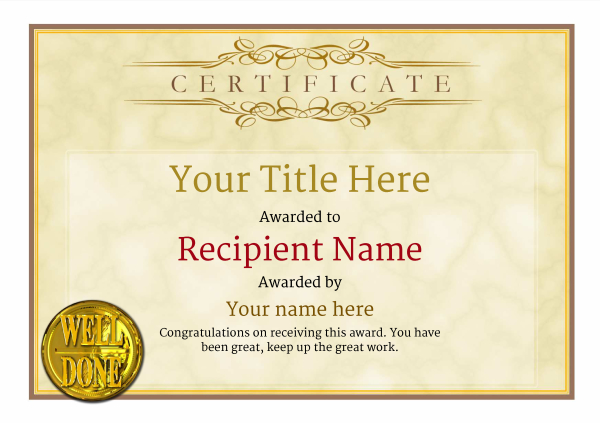 Free Martial Arts Certificate templates - Add Printable Badges  Medals