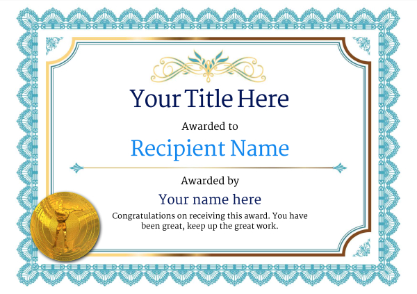 Free Rifle Shooting Certificate templates - Add Printable Badges