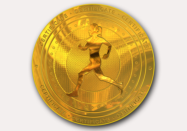 Free Athletic Running Certificate templates inc Printable Badges - gold medal templates