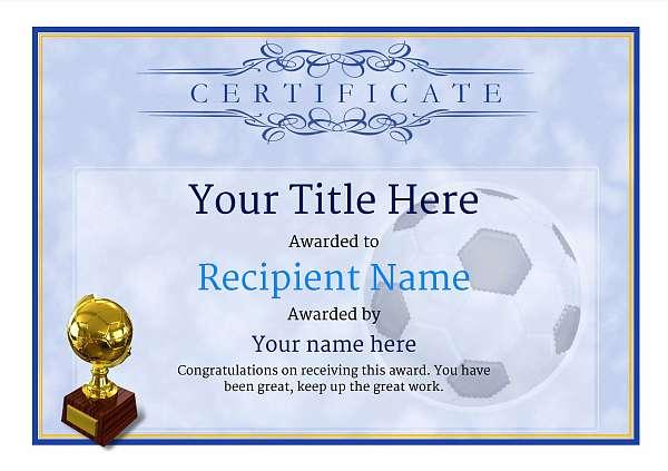 soccer awards template - Gurekubkireklamowe