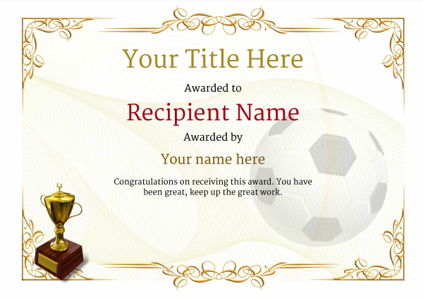 Old Fashioned Soccer Certificate Template Image Collection - Resume