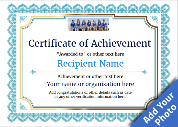 Certificate of Achievement - Free Templates easy to use Download  Print
