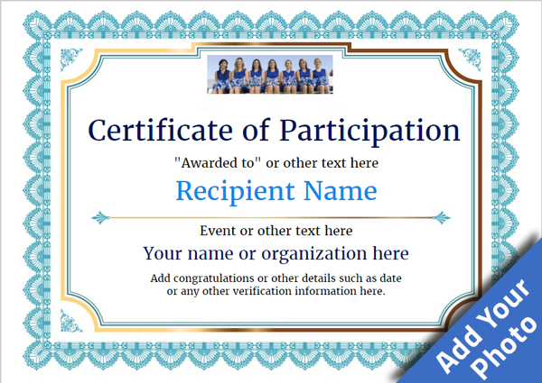 Participation Certificate Templates - Free, Printable, Add badges