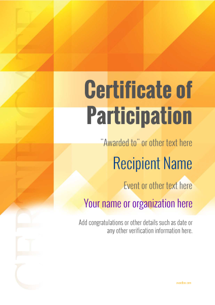 Participation Certificate Templates - Free, Printable, Add badges - design of certificate of participation