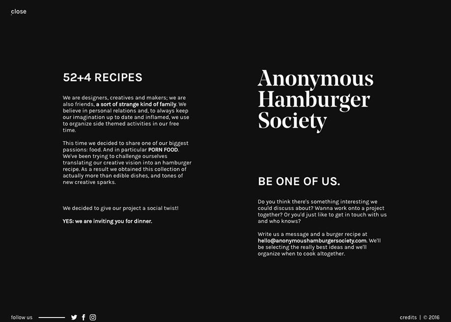 Anonymous Hamburger Society   Awwwards SOTD   Senior Director Job  Description