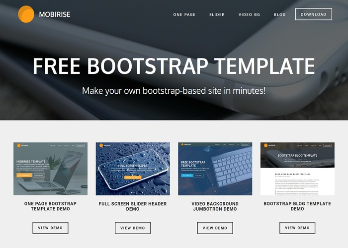 Free Bootstrap Template - Awwwards Nominee