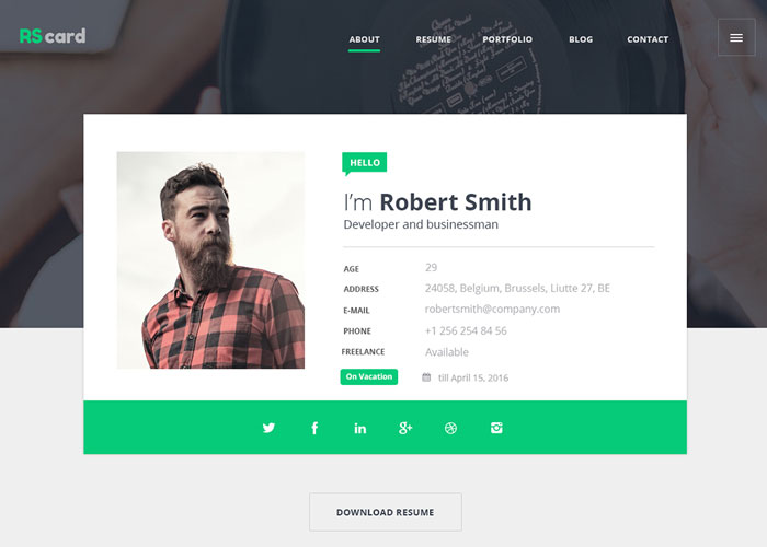 Material Design Resume/CV  Portfolio - Awwwards Nominee - web design resume