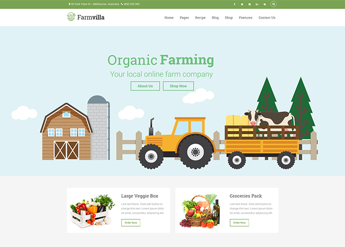 Farmvilla Organic Food Theme - Awwwards Nominee
